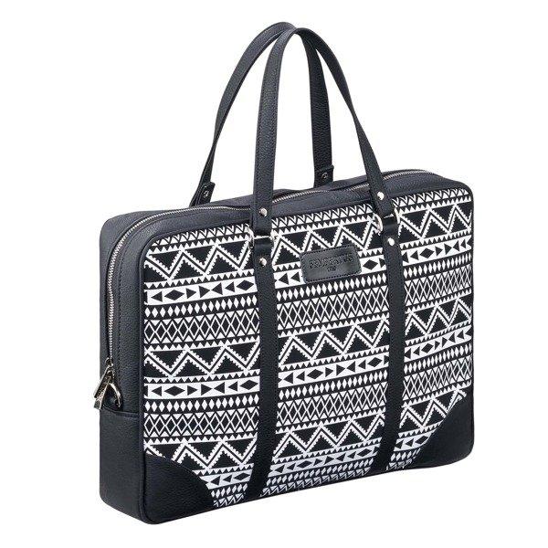 d7a3abddd22d4 Damska torba biznesowa na laptopa i dokumenty Czarny - Biały