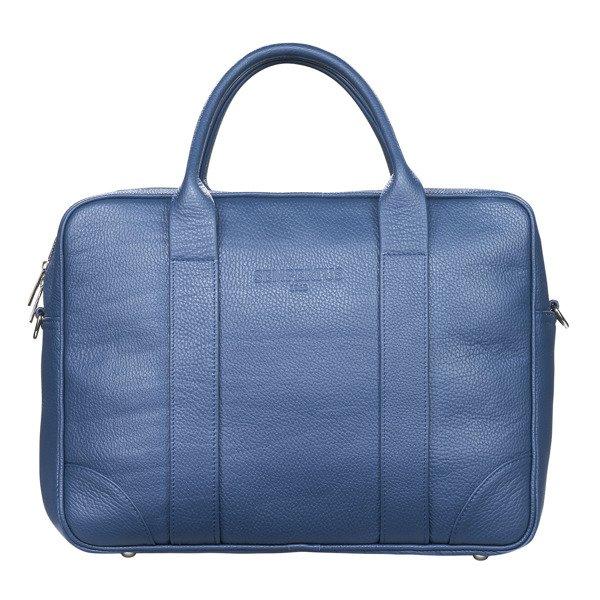 Skórzana torba biznesowa na laptopa i dokumenty duża