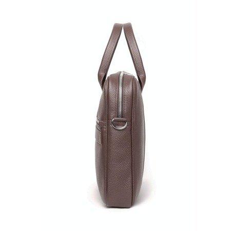 Skórzana Torba na Laptopa Sempertus Classic BIZ-02 w kolorze brązowym